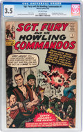Silver Age (1956-1969):War, Sgt. Fury and His Howling Commandos #1 (Marvel, 1963) CGC VG- 3.5 Off-white pages....