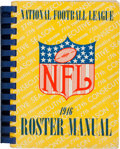 Football Collectibles:Publications, 1946 National Football League Media Guide Bound Set (11 Team Publications). ...