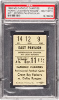 Football Collectibles:Tickets, 1960 Green Bay Packers Vs. Dallas Rangers (Cowboys) Ticket Stub PSA Authentic - 1st Game in Rivalry History!...