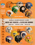 Football Collectibles:Programs, 1965 NFL Championship Game Program - Packers Vs. Browns (HighGrade)....