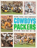 Football Collectibles:Programs, 1966 NFL Championship Game Program and Two Ticket Stubs - PackersVs. Cowboys....