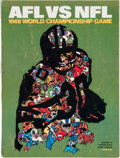Football Collectibles:Programs, 1968 Super Bowl II Program - Packers Vs. Raiders (High Grade). ...