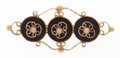 Estate Jewelry:Brooches - Pins, Black Onyx, Seed Pearls, Gold Brooch. ...