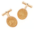 Estate Jewelry:Cufflinks, Gold Horse Cuff Links. ...