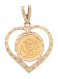 Estate Jewelry:Pendants and Lockets, Gold Heart-Shaped Pendant. ...