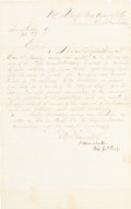 Autographs:Military Figures, Confederate General Humphrey Marshall War-Dated Orders Signed. ...