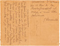 Autographs:Artists, George Rouault Autograph Letter Signed. ...