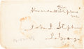 Autographs, Alexander Stephens Free Franking Signature. ...