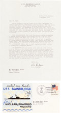 Autographs:Military Figures, Hyman G. Rickover Typed Letter Signed. ...