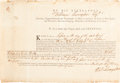 Autographs:Statesmen, William Livingston Document Signed as Governor. ...