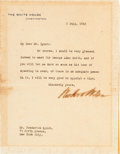 Autographs:U.S. Presidents, Woodrow Wilson Typed Letter Signed as President...