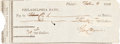 Autographs:Statesmen, George Clymer Signed Check. ...