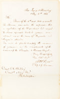 Autographs:Military Figures, Andrew H. Foote Letter Signed. ...