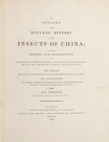 Books:Natural History Books & Prints, Edward Donovan. An Epitome of the Natural History of the Insectsof China. London: Printed for the author, by T. Ben...