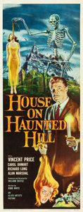 """Movie Posters:Horror, House on Haunted Hill (Allied Artists, 1959). Insert (14"""" X 36"""").. ..."""