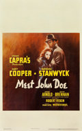 "Movie Posters:Drama, Meet John Doe (Warner Brothers, 1941). Window Card (14"" X 22"")....."