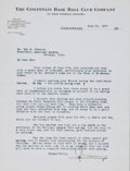 Autographs:Letters, 1927 August Hermann Signed Letter to Ban Johnson....