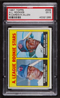 Baseball Cards:Singles (1960-1969), 1967 Topps Rod Carew Rookie #569 PSA EX 5. ...