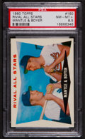 Baseball Cards:Singles (1960-1969), 1960 Topps Mantle/Boyer Rival All Stars #160 PSA NM-MT+ 8.5....
