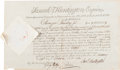 Autographs:Statesmen, Declaration Signer Samuel Huntington Document Signed ...