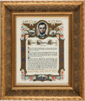 Miscellaneous, [Abraham Lincoln]. Lithographic Print of the Gettysburg Address....