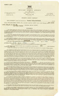 Autographs:Celebrities, Three Stooges Signed Contract. ...