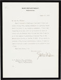 Autographs:Statesmen, John Knox Typed Letter Signed....
