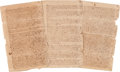 Miscellaneous, [Slavery]. Period Fair Copy of a Will Bequeathing Slaves....(Total: 4 Items)