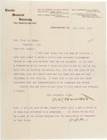 Autographs:Military Figures, General O. O. Howard Letter Signed Twice...