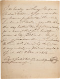 Autographs:Statesmen, Charles Carroll of Carrollton Document Signed....