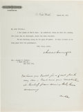 Autographs, Andrew Carnegie Typed Letter Signed With a Holographic Postscript....