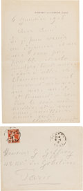 Autographs:Artists, Claude Monet Autographed Letter Signed ...