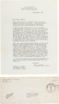 Autographs:U.S. Presidents, Dwight D. Eisenhower Typed Letter Signed ...