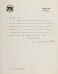 Autographs:Non-American, Winston Churchill Typed Letter Signed ...