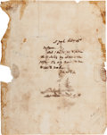 Autographs:Military Figures, [Revolutionary War]. General Charles Lee Autograph Letter Signed...