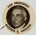 Political:Pinback Buttons (1896-present), Warren G. Harding: Bold Picture Pin....