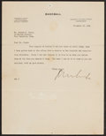 Baseball Collectibles:Others, 1941 Kenesaw Mountain Landis Signed Letter. ...