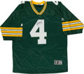 Football Collectibles:Uniforms, Brett Favre Signed Green Bay Packers Jersey (Signed Twice)....