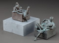 Post-War & Contemporary:Sculpture, ROBERT GRAHAM (American, 1938-2008). Seated Nude; Reclining Nude(two works). Bronze. Each approx. 4 x 3 inches (10.2 x ...(Total: 2 Items)