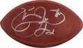 """Football Collectibles:Balls, Emmitt Smith Signed Leather NFL """"Wilson"""" Football...."""