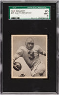 Football Cards:Singles (Pre-1950), 1948 Bowman Dante Magnani SP #75 SGC 96 Mint 9 - Pop One, SingleHighest SGC Example! ...