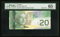 "Canadian Currency: , BC-64a-i $20 2005 with ""Radar"" Serial Number EZY7755577. ..."