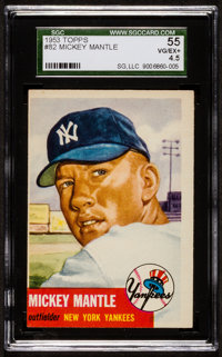 1953 Topps Mickey Mantle SP #82 SGC 55 VG/EX+ 4.5