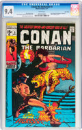 Bronze Age (1970-1979):Adventure, Conan the Barbarian #5 Twin Cities pedigree (Marvel, 1971) CGC NM 9.4 White pages....