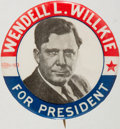 Political:Pinback Buttons (1896-present), Wendell Willkie: Rare Picture Pin....