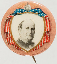 "William Jennings Bryan: Gorgeous 7/8"" Button"
