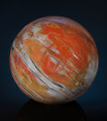 Lapidary Art:Eggs and Spheres, COLORFUL PETRIFIED WOOD SPHERE. Araucarioxylon arizonicum.Triassic. Chinle Formation. Arizona, USA. ...