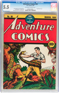 Golden Age (1938-1955):Adventure, Adventure Comics #36 (DC, 1939) CGC FN- 5.5 Off-white to white pages....