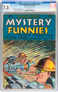 Amazing Mystery Funnies V2#4 (Centaur, 1939) CGC VF- 7.5 Cream to off-white pages