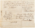 Autographs:Statesmen, Oliver Wolcott Document Thrice Signed....